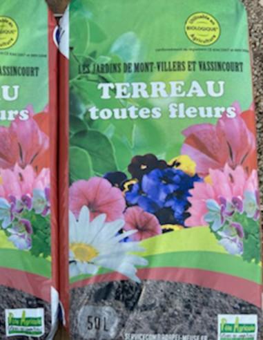 """Terreau Toutes Fleurs """"Les Jardins"""" 50 L"""